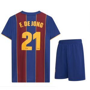 FC Barcelona Voetbaltenue Frenkie de Jong Thuis 2020-2021 Kids