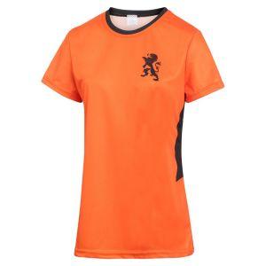 Nederlands Elftal Dames Voetbalshirt Thuis Eigen Naam EK 2021 Meisjes-Vrouwen - Leeuwinnen