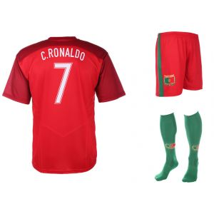 Portugal Voetbaltenue Ronaldo Thuis 2016-2018